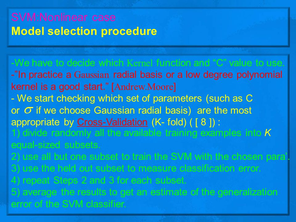Model selection procedure