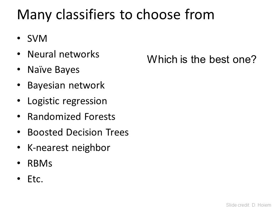 Many classifiers to choose from