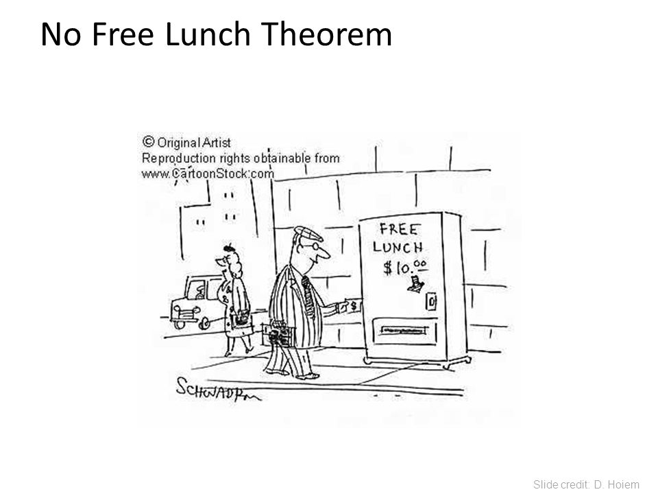 No Free Lunch Theorem You can only get generalization through assumptions. Slide credit: D. Hoiem