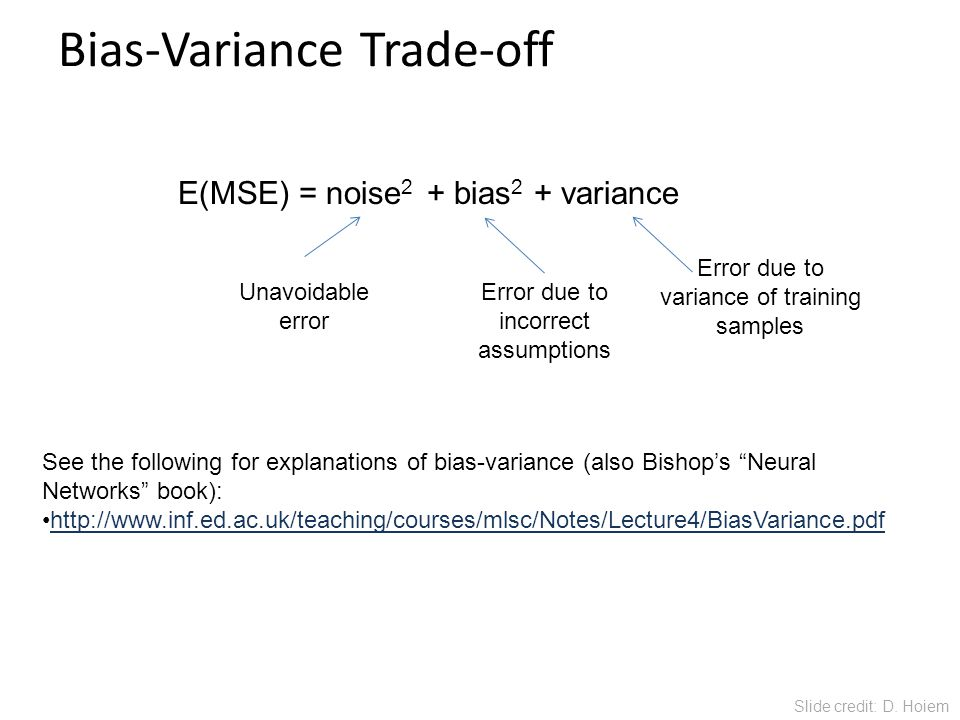 Bias-Variance Trade-off