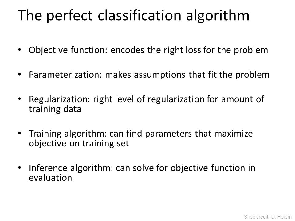 The perfect classification algorithm