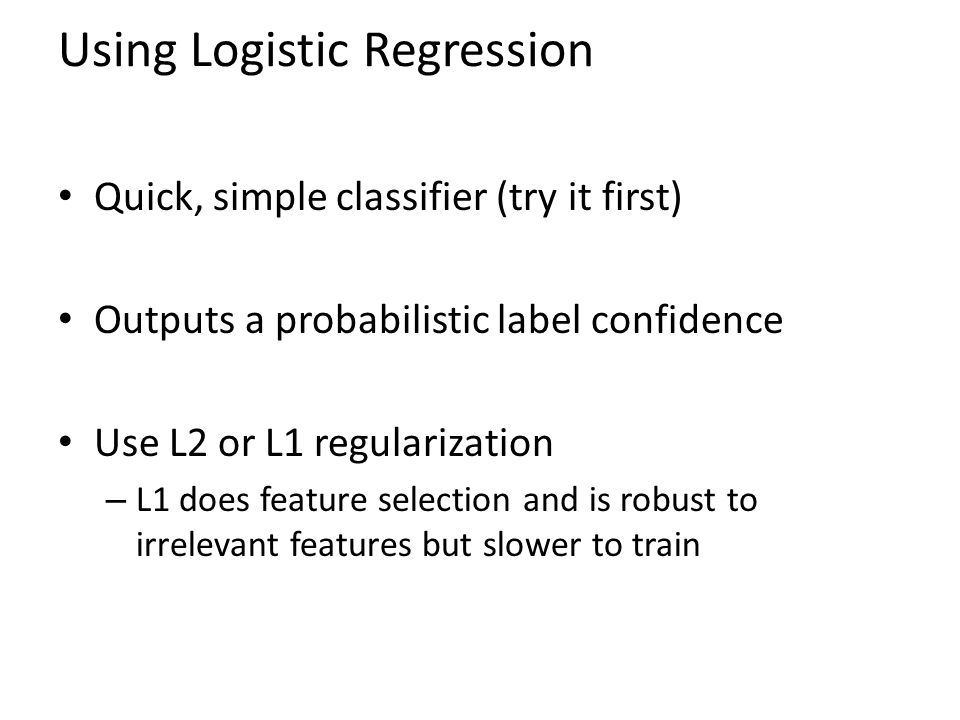 Using Logistic Regression