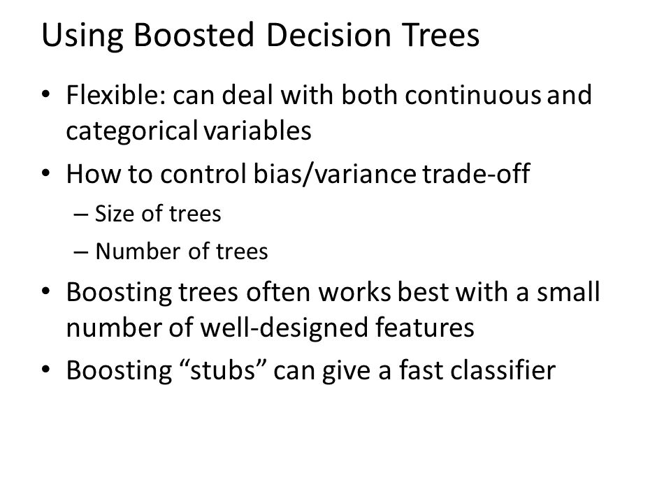 Using Boosted Decision Trees