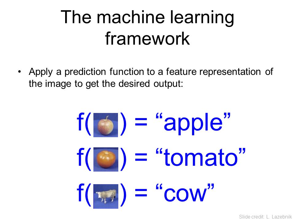 The machine learning framework