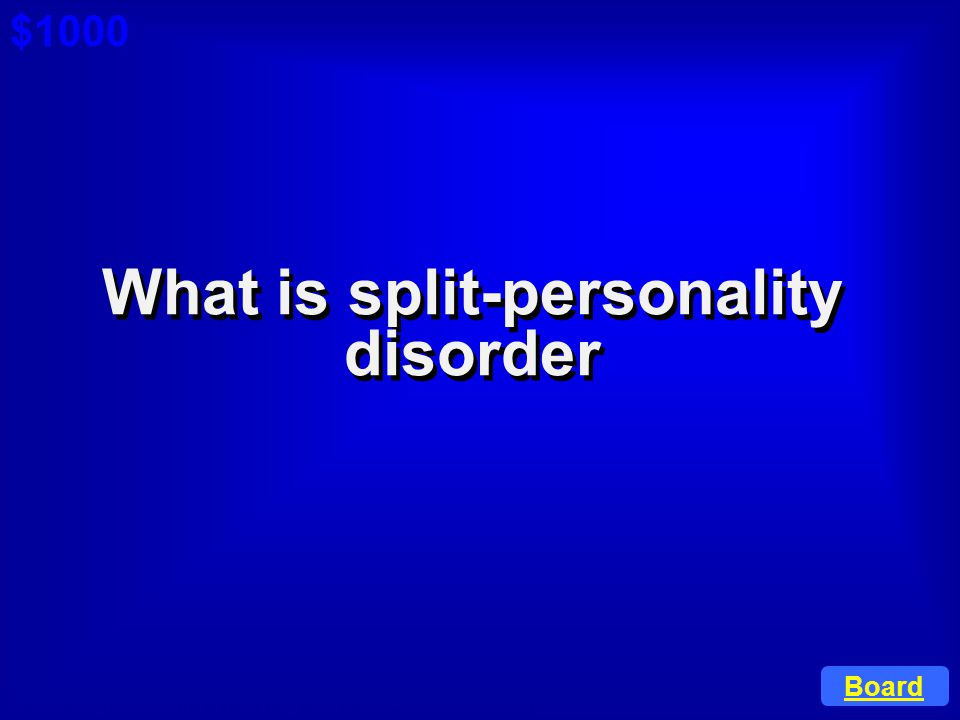 What is split-personality disorder