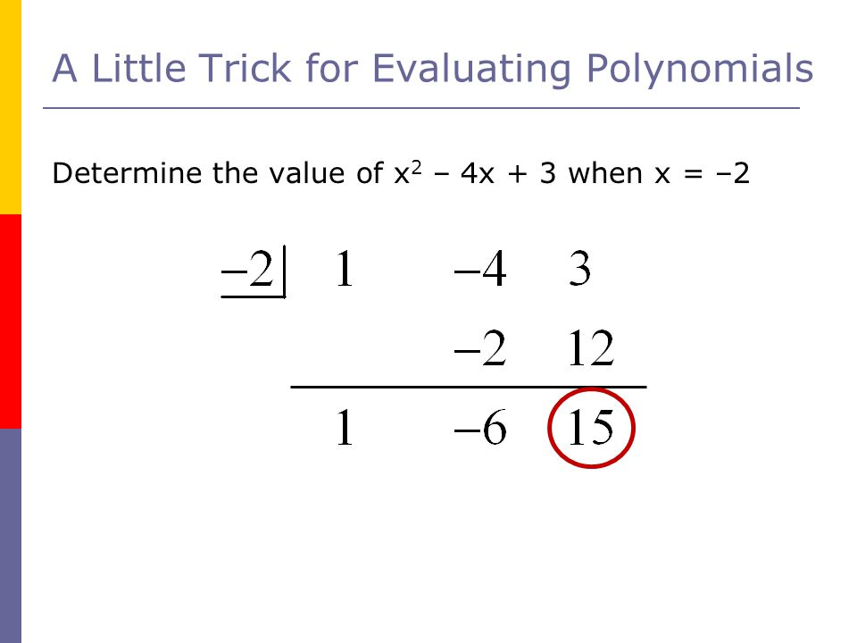 A Little Trick for Evaluating Polynomials