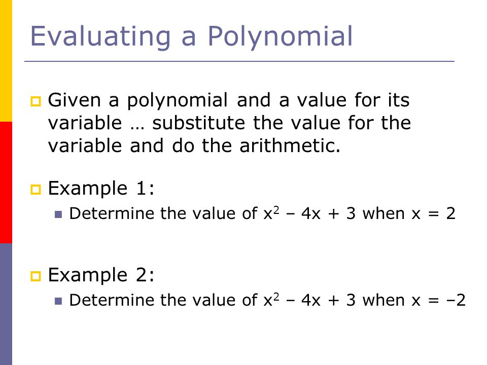 Evaluating a Polynomial