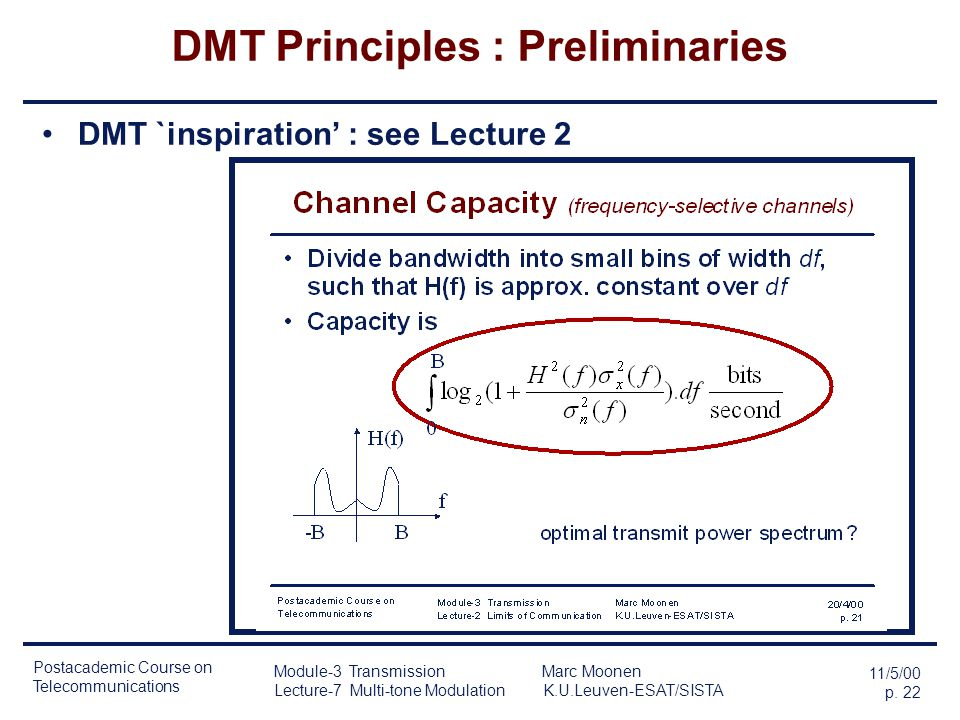 DMT Principles : Preliminaries