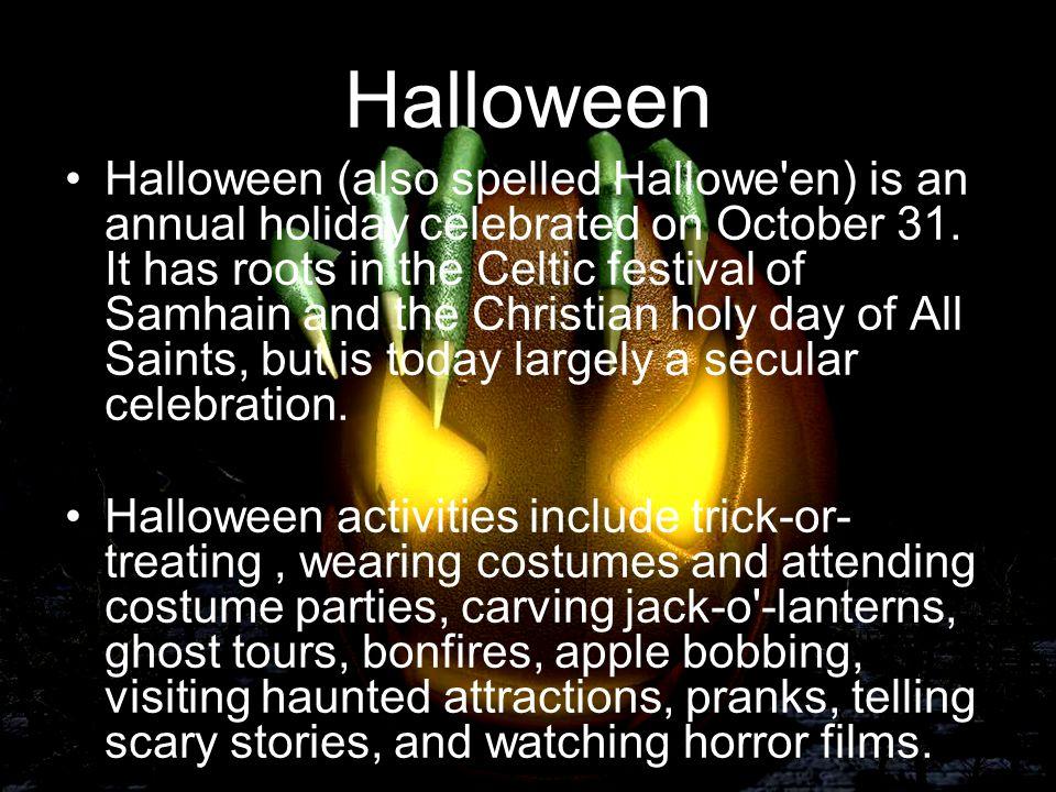Halloween 31 October. - ppt video online download