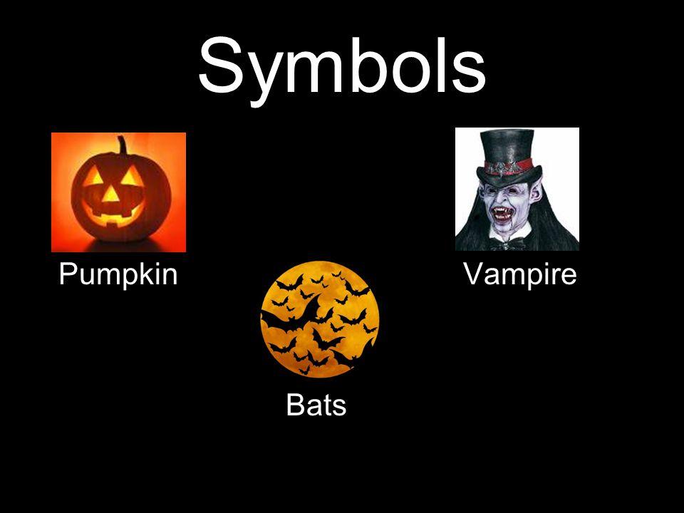 Symbols Pumpkin Vampire Bats