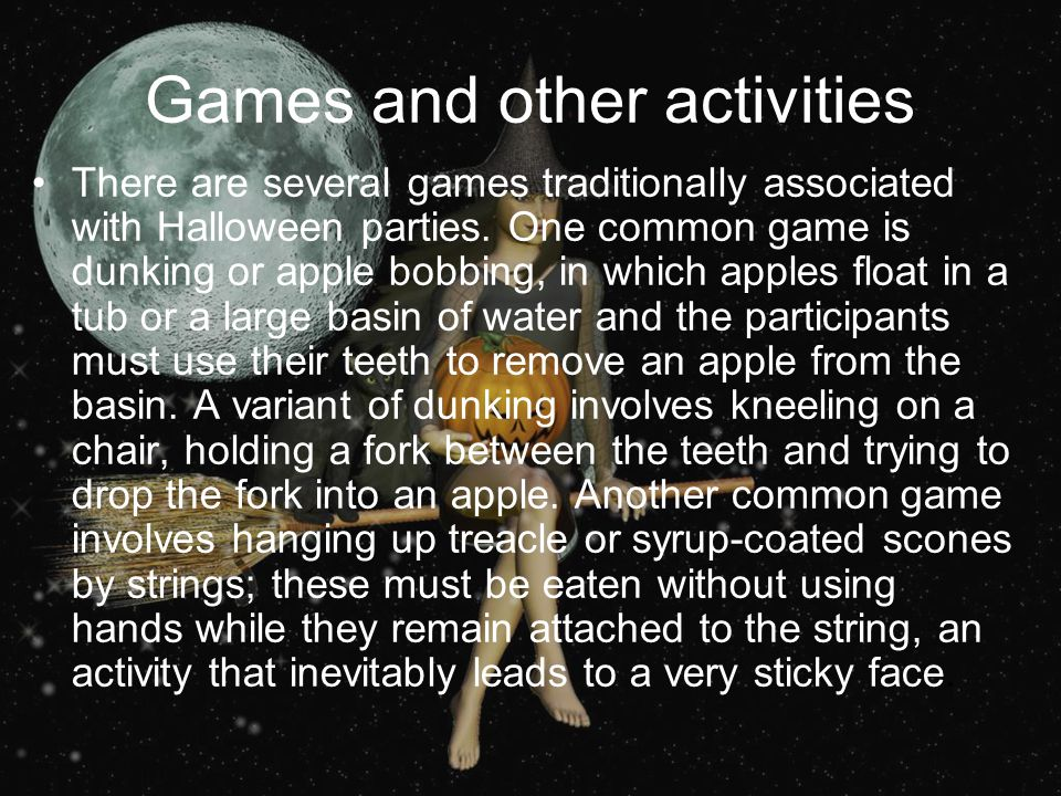 Games and other activities