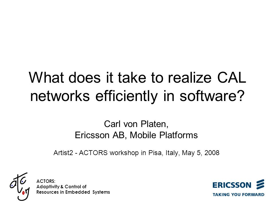 What does it take to realize CAL networks efficiently in software