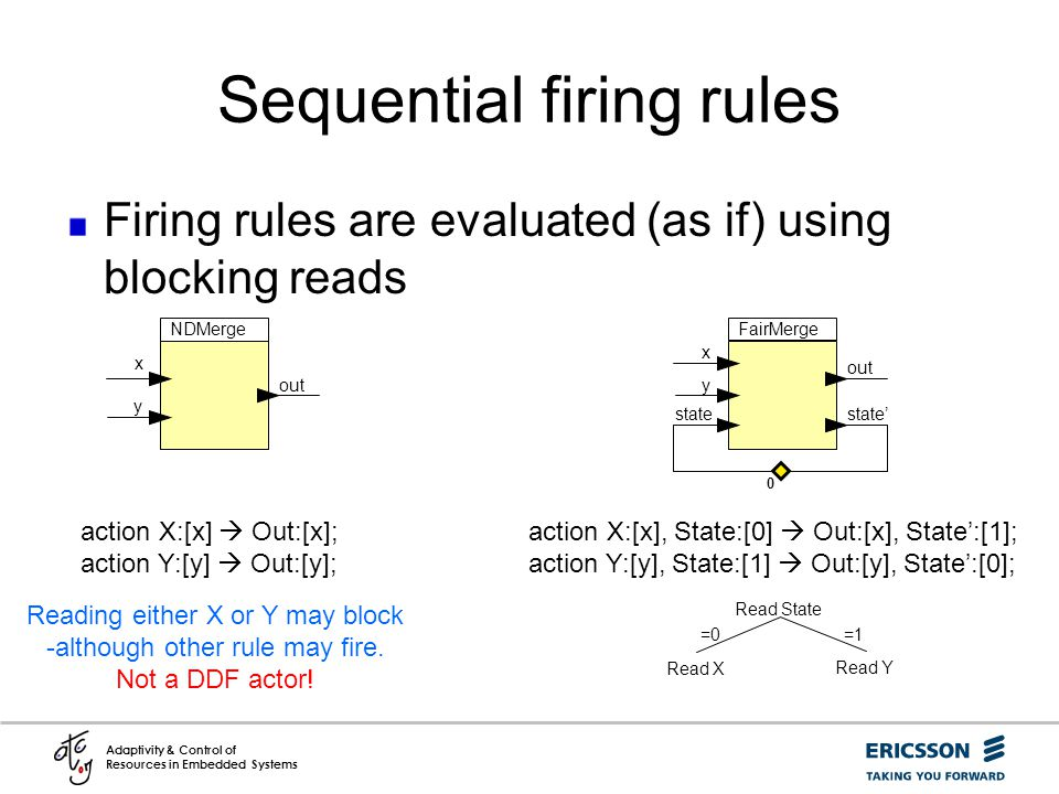 Sequential firing rules
