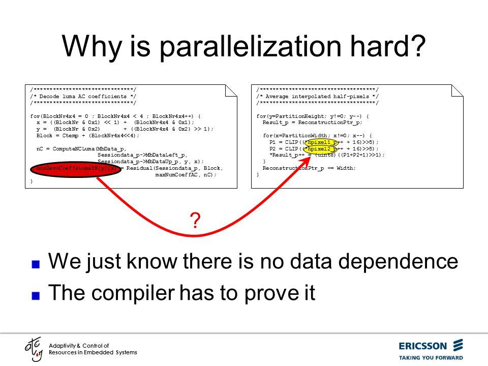 Why is parallelization hard