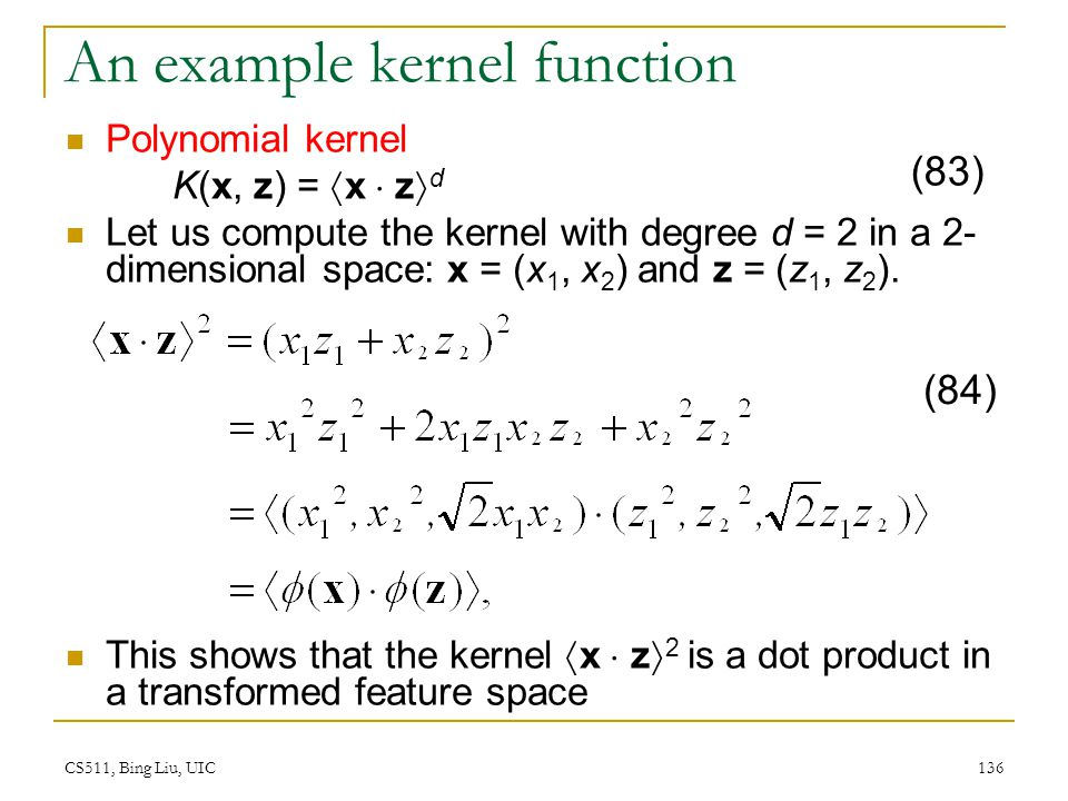 An example kernel function