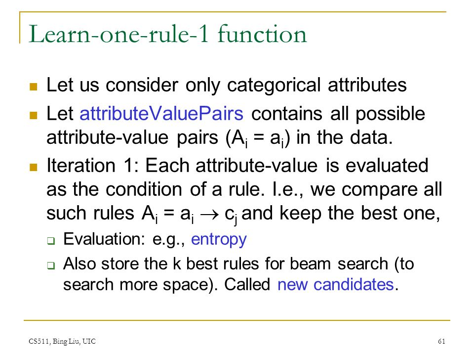 Learn-one-rule-1 function