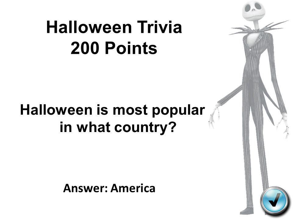 Halloween Trivia 200 Points