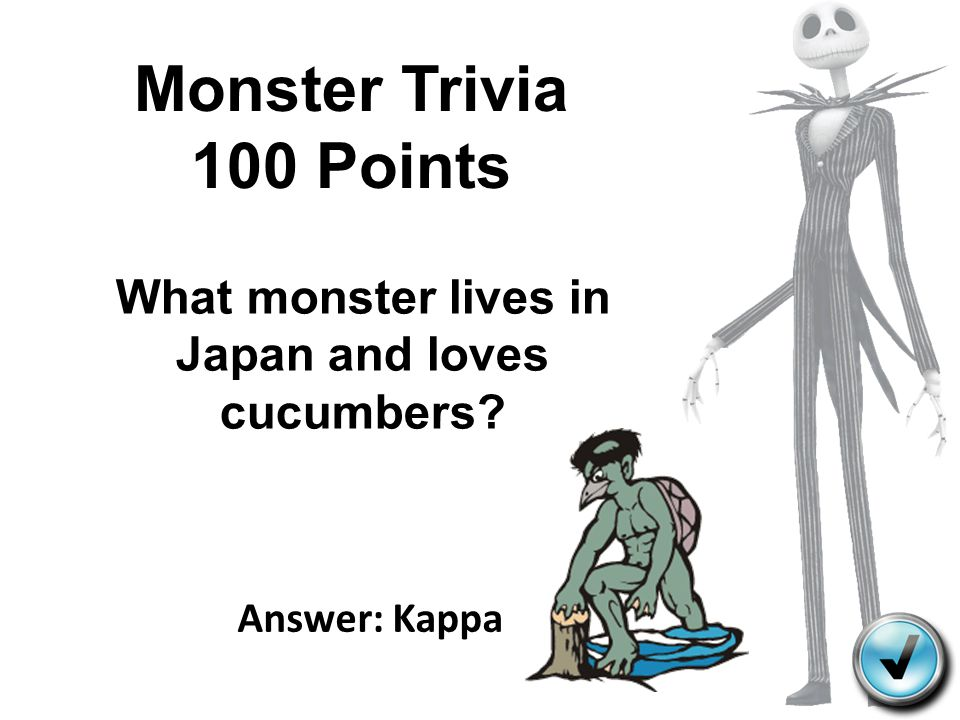 What monster lives in Japan and loves cucumbers