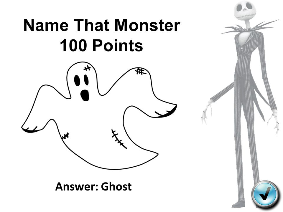 Name That Monster 100 Points