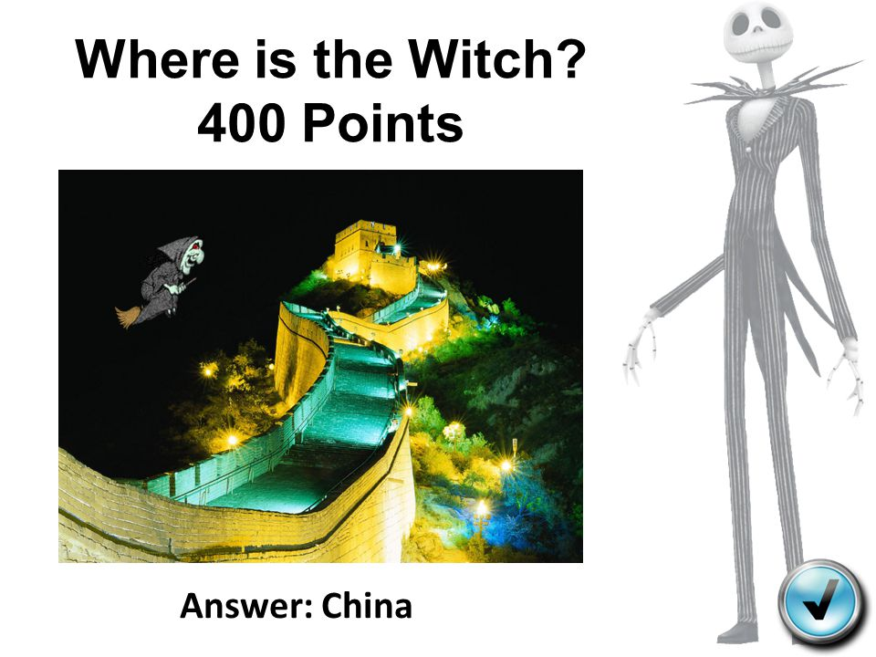 Where is the Witch 400 Points