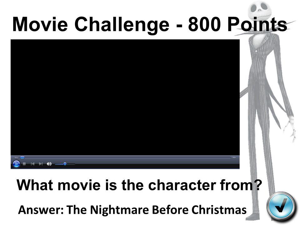 Movie Challenge - 800 Points