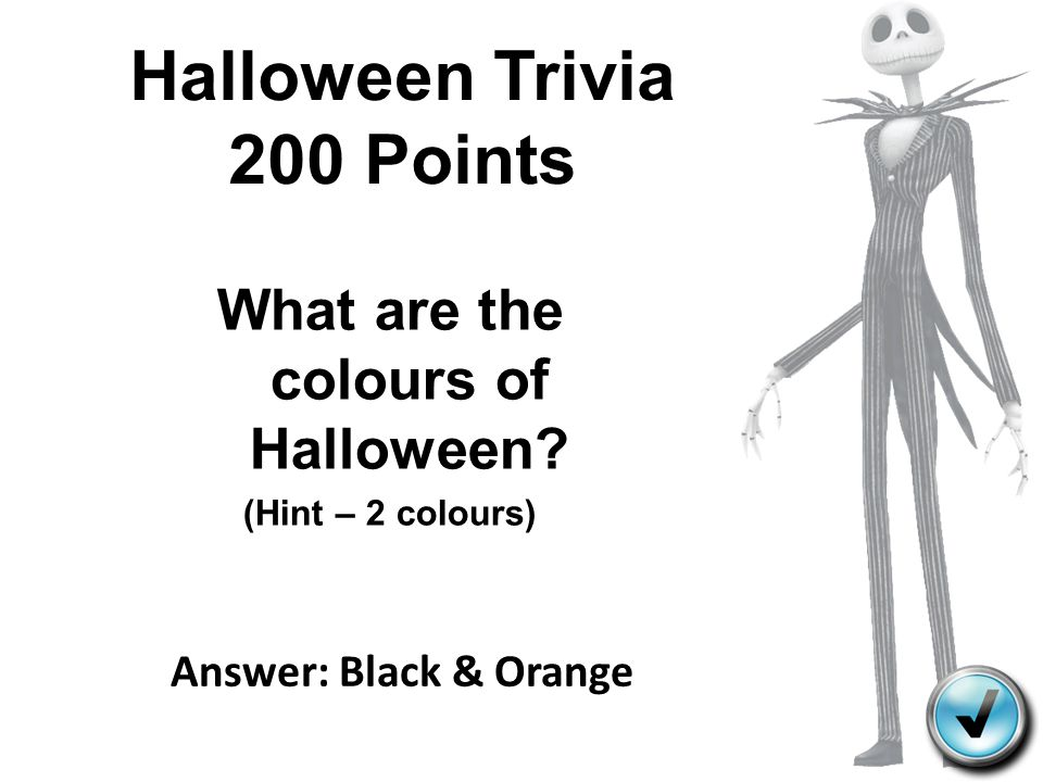 Halloween Trivia 200 Points