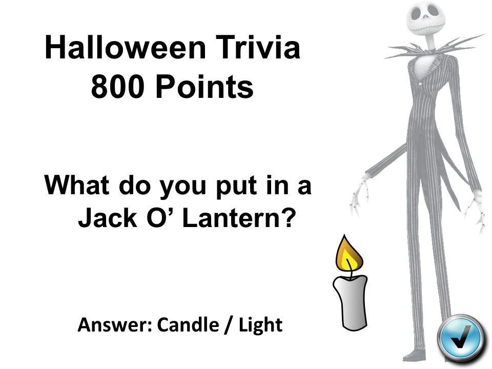 Halloween Trivia 800 Points