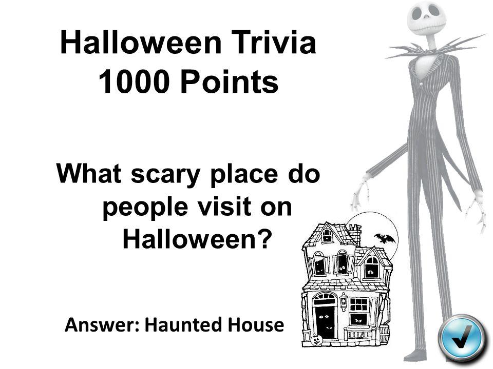 Halloween Trivia 1000 Points