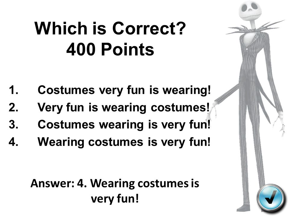 Which is Correct 400 Points