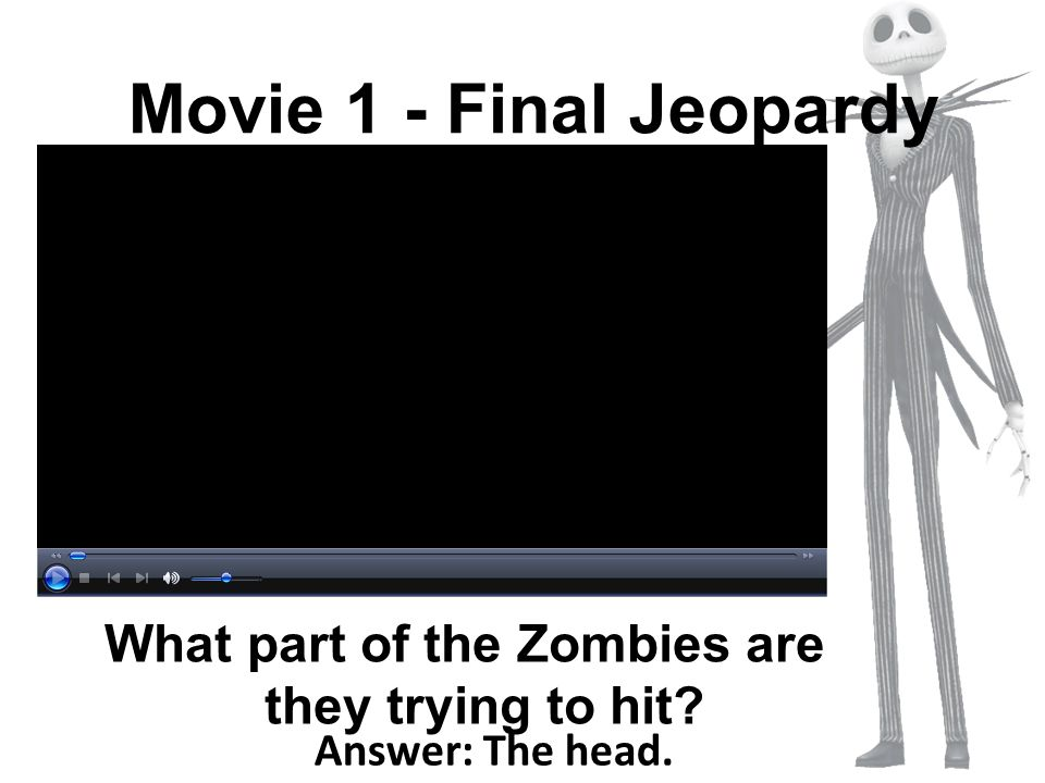 What part of the Zombies are they trying to hit