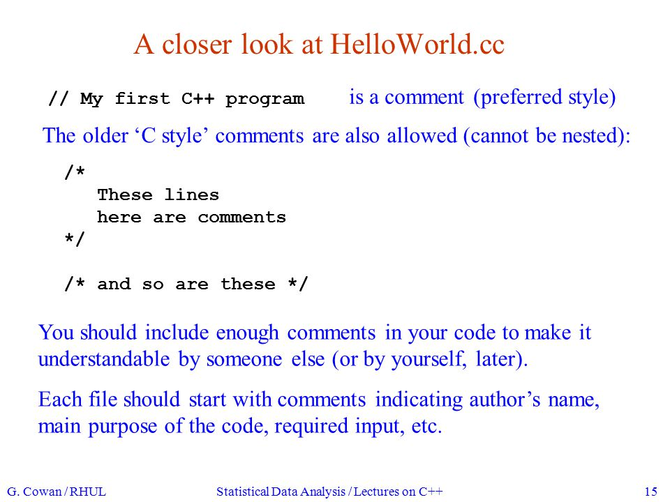 A closer look at HelloWorld.cc