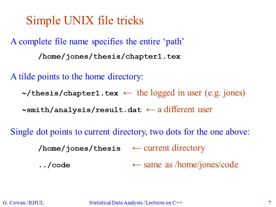 Simple UNIX file tricks