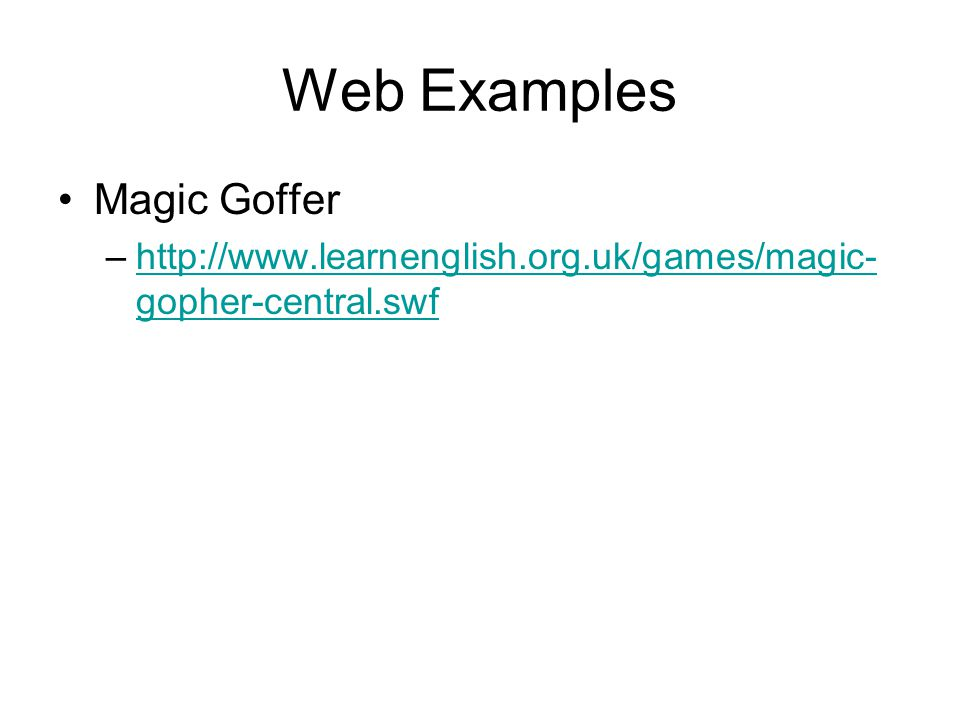 Web Examples Magic Goffer