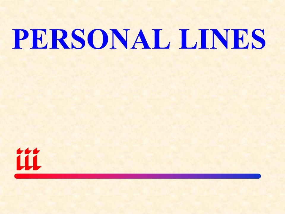 PERSONAL LINES