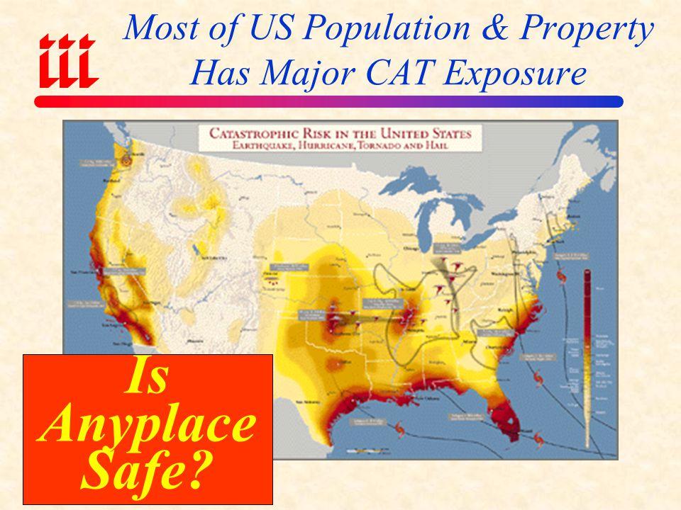 Most of US Population & Property Has Major CAT Exposure