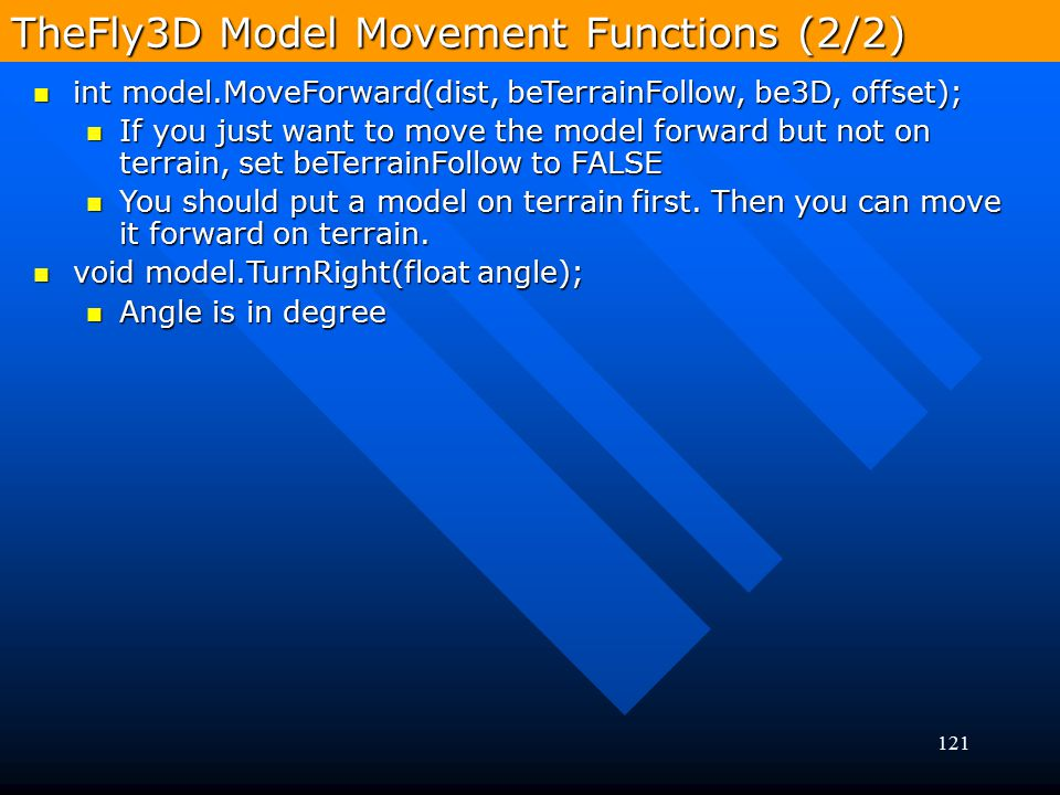 TheFly3D Model Movement Functions (2/2)