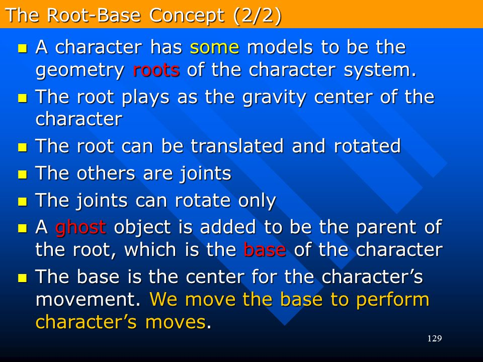 The Root-Base Concept (2/2)