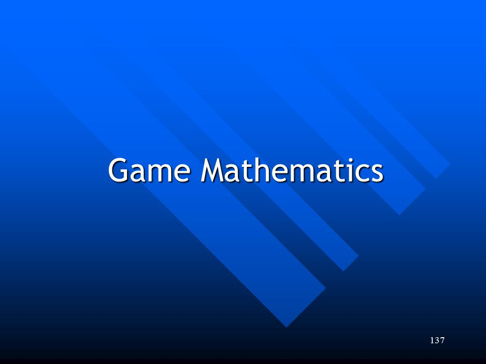 Game Mathematics