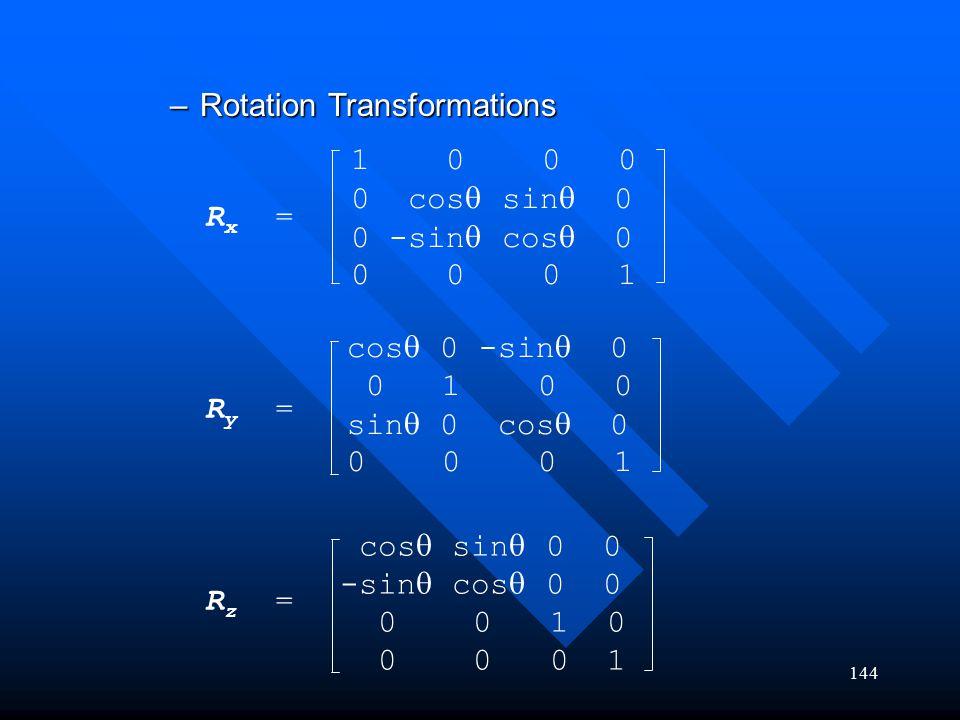 Rotation Transformations