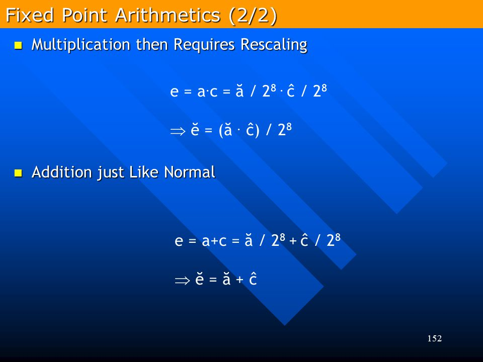 Fixed Point Arithmetics (2/2)