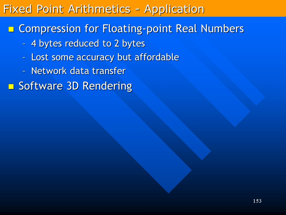 Fixed Point Arithmetics - Application