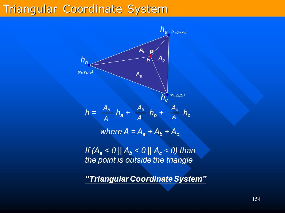 Triangular Coordinate System