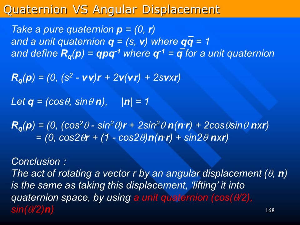 Quaternion VS Angular Displacement