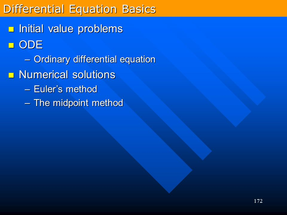 Differential Equation Basics