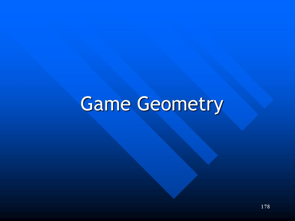 Game Geometry