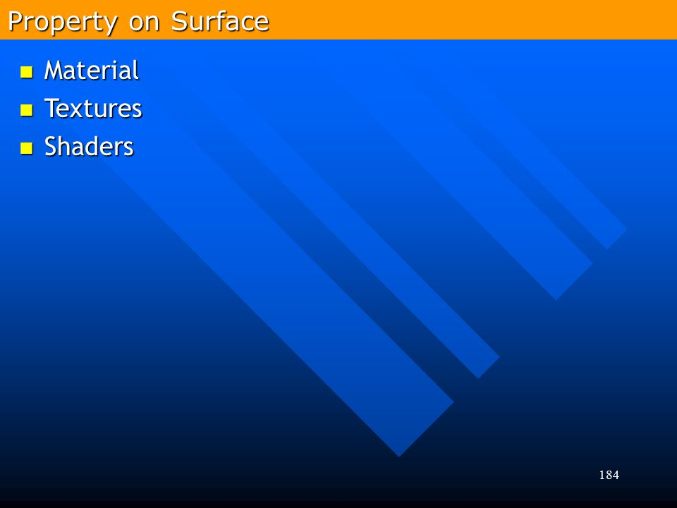 Property on Surface Material Textures Shaders