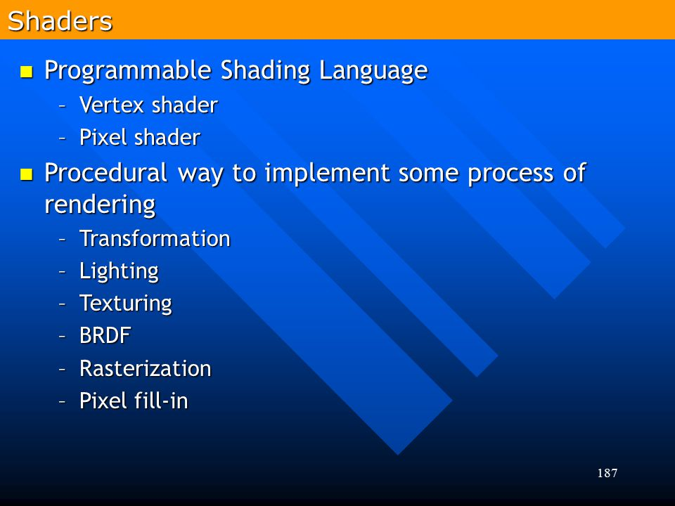 Programmable Shading Language
