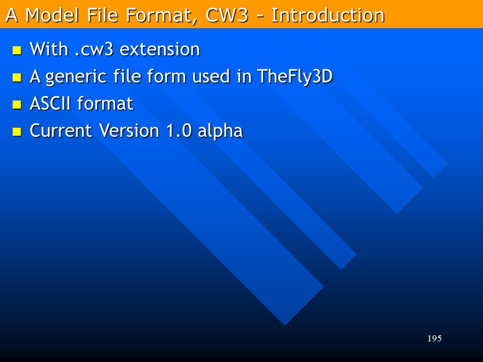 A Model File Format, CW3 - Introduction