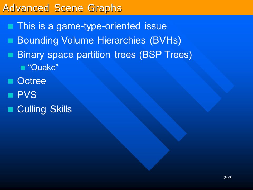 This is a game-type-oriented issue Bounding Volume Hierarchies (BVHs)