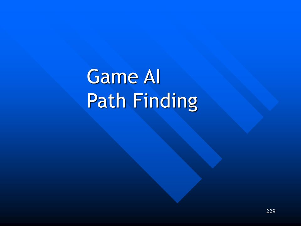Game AI Path Finding